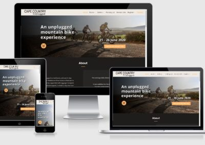 Cape country web design by web chameleon