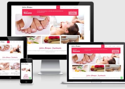 Salon pamper web design by web chameleon